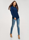 Блузка прямого силуэта с нагрудным карманом oodji #SECTION_NAME# (синий), 11411134B/46123/7900N - вид 6