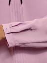 Блузка с декоративными завязками и оборками на воротнике oodji #SECTION_NAME# (фиолетовый), 11411091-2/36215/8000N - вид 5