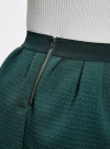 Юбка из фактурной ткани на эластичном поясе oodji #SECTION_NAME# (зеленый), 14100019-1/43642/6C00N - вид 5