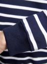 Свитшот полосатый свободного силуэта oodji для женщины (синий), 14801022-3/43542/7910S