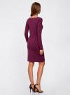 Платье трикотажное облегающего силуэта oodji #SECTION_NAME# (фиолетовый), 14001183B/46148/8301N - вид 3