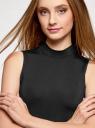Платье облегающего силуэта с воротником-стойкой oodji #SECTION_NAME# (черный), 14005138-3B/46943/2900N - вид 4