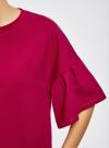 Платье прямого силуэта с воланами на рукавах oodji #SECTION_NAME# (красный), 14000172B/48033/4C00N - вид 5