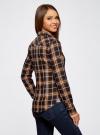 Рубашка принтованная хлопковая oodji для женщины (синий), 11406019/43593/7957C - вид 3