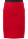 Юбка-карандаш с эластичным поясом oodji для женщины (красный), 14101084/33185/4500N