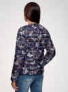Куртка стеганая с круглым вырезом oodji для женщины (синий), 10204040-1B/42257/7980U - вид 3