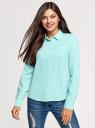 Блузка базовая из вискозы oodji для женщины (бирюзовый), 11411136B/26346/7300N