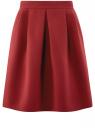 Юбка A-образного силуэта на молнии oodji #SECTION_NAME# (красный), 11600446/31291/4900N