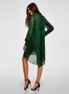 Платье шифоновое с асимметричным низом oodji для женщины (зеленый), 11913032/38375/6B29A - вид 3