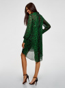 Платье шифоновое с асимметричным низом oodji #SECTION_NAME# (зеленый), 11913032/38375/6B29A - вид 3