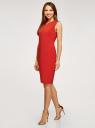 Платье облегающего силуэта с потайной молнией oodji #SECTION_NAME# (красный), 12C02007B/42250/4500N - вид 6