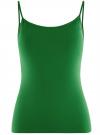Топ трикотажный на тонких бретелях oodji для женщины (зеленый), 14305023-4B/45297/6E00N