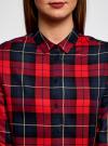 Блузка принтованная из вискозы oodji #SECTION_NAME# (красный), 11411098/45208/4579C - вид 4