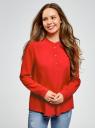 Блузка вискозная А-образного силуэта oodji #SECTION_NAME# (красный), 21411113B/26346/4501N - вид 2