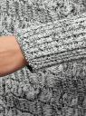 Кардиган ажурный без застежки oodji для женщины (белый), 73207202-1/31347/1229M