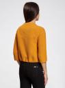 Жакет свободного силуэта на крючках oodji для женщины (оранжевый), 11200253-2/42054/5200N
