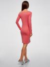 Платье трикотажное облегающего силуэта oodji #SECTION_NAME# (розовый), 14001183B/46148/4100N - вид 3