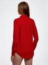 Блузка из струящейся ткани с украшением из страз oodji #SECTION_NAME# (красный), 11411128/36215/4500N - вид 3