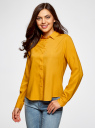 Блузка базовая из вискозы oodji #SECTION_NAME# (желтый), 11411136B/26346/5200N - вид 2