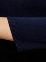 Платье вязаное с рукавом 3/4 oodji для женщины (синий), 63912222-2B/45109/7901N