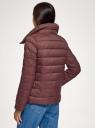 Куртка утепленная с высоким воротом oodji для женщины (красный), 10203054/33445/3101N