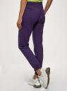 Брюки трикотажные спортивные oodji для женщины (фиолетовый), 16700030-5B/47648N/8800N