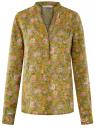 Блузка вискозная прямого силуэта oodji #SECTION_NAME# (зеленый), 21400394-1B/24681/6241F