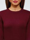 Платье вязаное с рукавом 3/4 oodji для женщины (красный), 63912222-2B/45109/4901N - вид 4