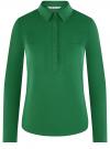 Рубашка базовая с нагрудными карманами oodji #SECTION_NAME# (зеленый), 11403222B/42468/6E00N