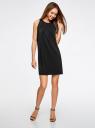 Платье прямое с завязками на спине oodji #SECTION_NAME# (черный), 24005125/42788/2900N - вид 2