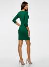 Платье облегающего силуэта на молнии oodji #SECTION_NAME# (зеленый), 14001105-6B/46944/6E00N - вид 3