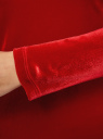 Платье прилегающего силуэта из бархата oodji для женщины (красный), 14000165/46056/4500N