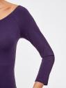 Платье облегающее с вырезом-лодочкой oodji #SECTION_NAME# (фиолетовый), 14017001-6B/47420/8800N - вид 5