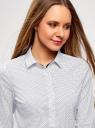 Блузка хлопковая с рукавом 3/4 oodji #SECTION_NAME# (белый), 13K03005B/26357/1079D - вид 4