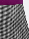 Юбка-трапеция короткая oodji #SECTION_NAME# (черный), 11600413-1/38281/2912G - вид 4