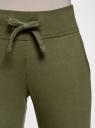 Комплект трикотажных брюк (2 пары) oodji #SECTION_NAME# (зеленый), 16700030-15T2/46173/6800N - вид 4