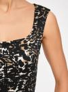 Платье-футляр без рукавов oodji для женщины (черный), 14015001/36233/2933A - вид 5