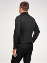 Рубашка приталенная с нашивкой на воротнике oodji #SECTION_NAME# (черный), 3L140117M/34146N/2900N - вид 3