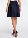 Юбка с боковыми карманами oodji для женщины (синий), 11600424/45371/7900N