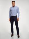 Рубашка из фактурной ткани oodji #SECTION_NAME# (синий), 3B310007M/49257N/7500O - вид 6