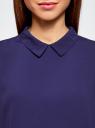 Блузка базовая без рукавов с воротником oodji #SECTION_NAME# (фиолетовый), 11411084B/43414/7502N - вид 4