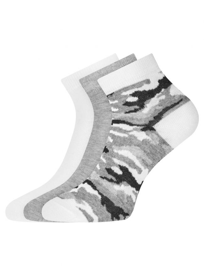 Комплект из трех пар укороченных носков oodji для женщины (разноцветный), 57102418T3/47469/19