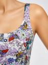 Платье-майка трикотажное oodji #SECTION_NAME# (разноцветный), 14015007-3B/37809/1241U - вид 5