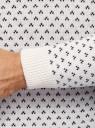 Джемпер жаккардовый с длинным рукавом oodji #SECTION_NAME# (белый), 4L107137M/25365N/1279J - вид 5