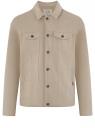 Куртка джинсовая на пуговицах oodji #SECTION_NAME# (бежевый), 6L300011M/35771/3300W