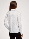 Блузка свободного силуэта с декоративными пуговицами на спине oodji #SECTION_NAME# (белый), 11401275/24681/1229D - вид 3