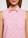 Платье хлопковое на кулиске oodji #SECTION_NAME# (розовый), 11901147-4B/45202/1045O - вид 4