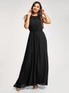 Платье макси с завязками на талии oodji для женщины (черный), 11911009/42629/2900N - вид 2