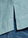 Рубашка свободного силуэта с удлиненной спинкой oodji #SECTION_NAME# (зеленый), 13K11002B/45387/6E10S - вид 5