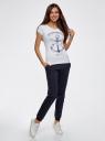 Комплект трикотажных брюк (2 пары) oodji #SECTION_NAME# (разноцветный), 16700030-15T2/46173/19VVN - вид 6